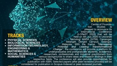 Call for Papers: International Conference on Research and Practices in Science, Technology and Social Sciences (I-CReST 2020)