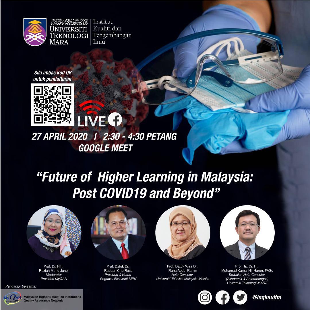Diskusi Web anjuran InQKA Merungkai Strategi Menangani Cabaran Kesan Pandemik COVID-19