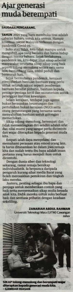 14jan2021 - Utusan Malaysia